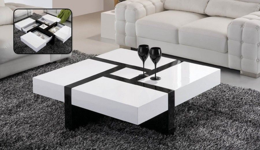 Table centrale - Table basse vitree ...